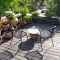 Sunny private deck for guests