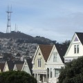 West view toward Twin Peaks and Sutro Tower (Dolores Place and her neighbors)